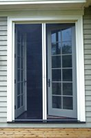 Double/French Retractable Screen Doors